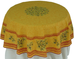 round table cloth by La Cigale